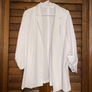 Plus Size White Blazer for women